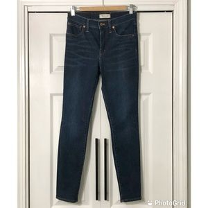 """Madewell 9"""" High Rise Skinny Blue Jeans Size-27"""